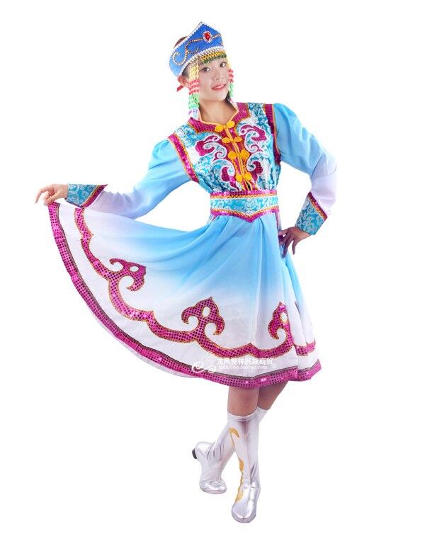 Ethnic Clothing Mongolian Dance Clothing Female Mongolian Costumes Mongolian Ceremonial Dress Women Mongolia Cheongsam