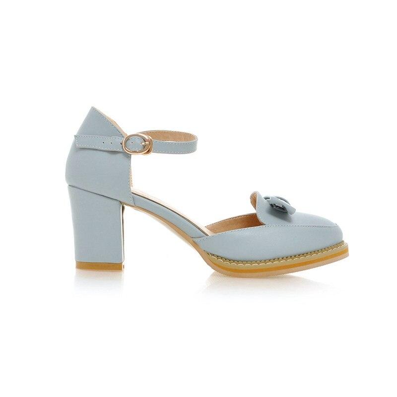 KarinLuna kwaliteit dames enkelriem stevige vierkante hakken schoenen - Damesschoenen - Foto 4