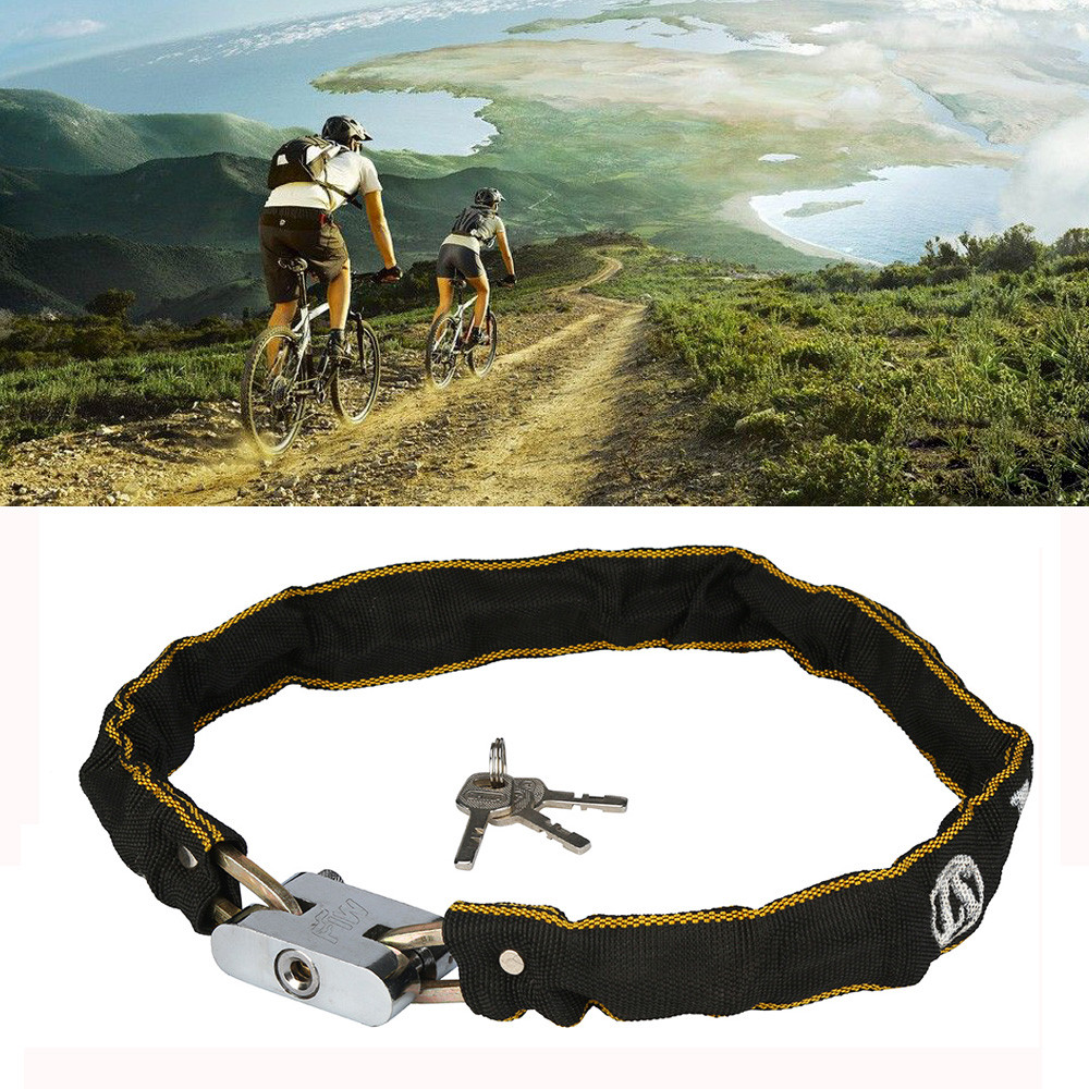 Heavy Duty Bike Lock Motorbike Motorcycle Scooter Cycle Motor Bicycle Chain Pad Security Lock Blocage De Roue Velo(China)