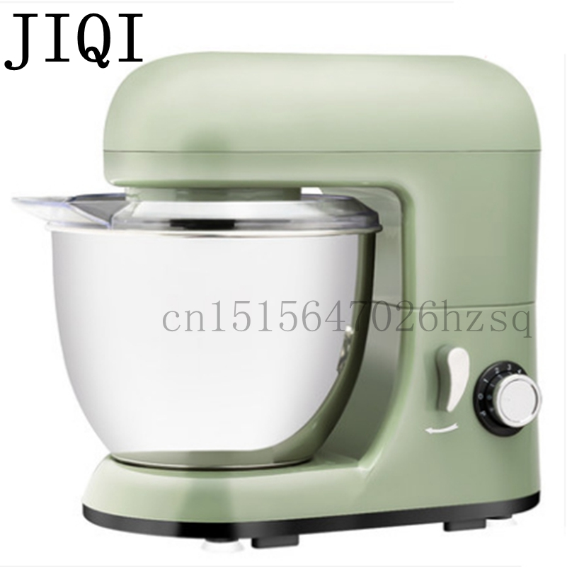 JIQI household electric stand mixers multifunctional food mixer egg beater, cake dough bread mixer machine km 8 electric 6l chef home kitchen cooking stand cake food egg machine pasta mixer bread 220v 50 hz 1200 w food mixers