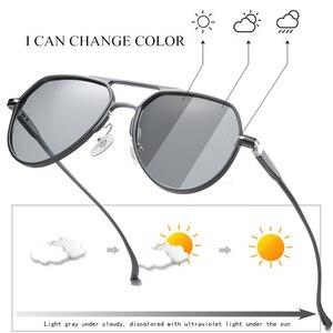 Image 1 - آل ملغ اللونية الاستقطاب المعادن الطيار النظارات الشمسية ، الرجال تلون القيادة النظارات الشمسية ، ومكافحة وهج الذكور نظارات شمسية S163