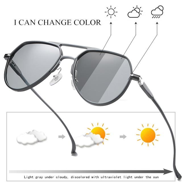 آل ملغ اللونية الاستقطاب المعادن الطيار النظارات الشمسية ، الرجال تلون القيادة النظارات الشمسية ، ومكافحة وهج الذكور نظارات شمسية S163
