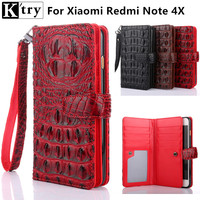 K Try For Xiaomi Redmi Note 4X Case Luxury Leather With Silicone Cover For Xiaomi Redmi