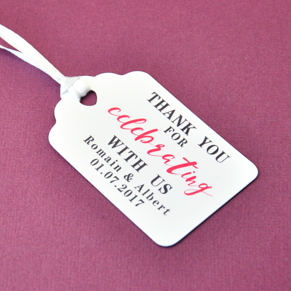 Personalized Gift Tags Thank You Wedding Tag 100pcs/set Customized ...