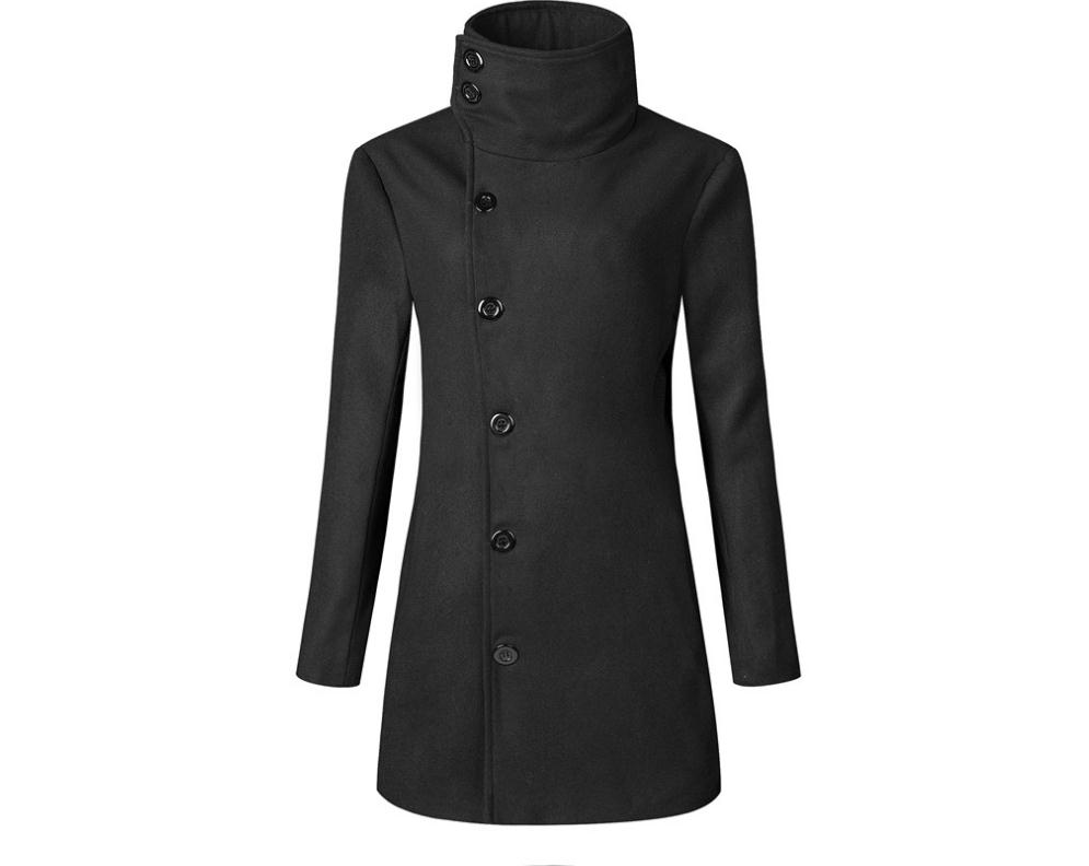 Jacket Coat Blends Wool Trend Long-Section Men's Fashion United-States Europe