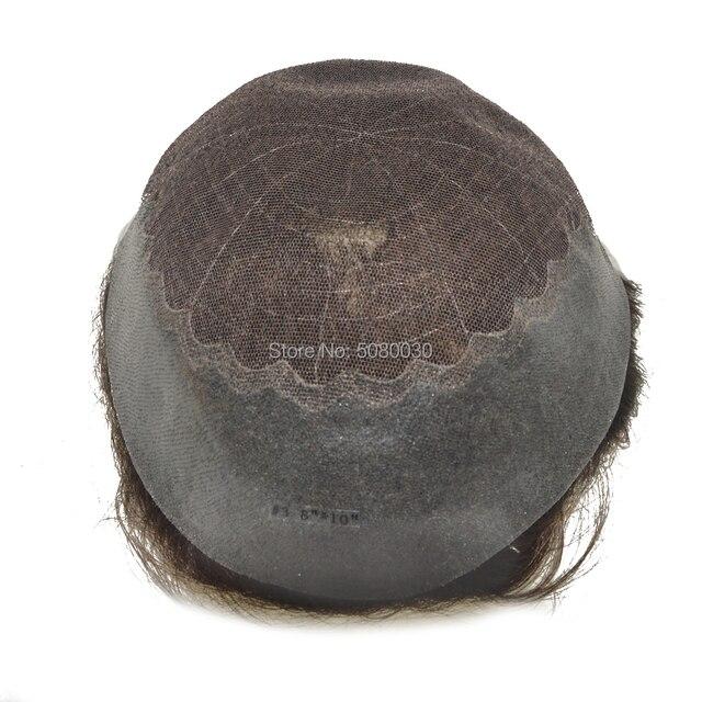 hair unit for men Q6 base man weave unit hair prosthesis toupee mens hairpieces 1