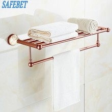 SAFEBET бренд Нержавеющая сталь Полотенца рельсы складной движимого Ванны Полотенца держатель настенный Ванная комната хранения вешалка для одежды