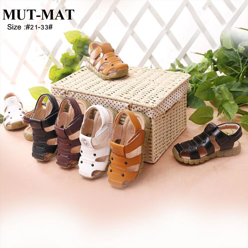 Kid Shoes New Children's Leather Sandals Non-slip Wear Children's Boys & Girls Sandals Sandals Beach Shoes
