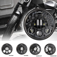 5.75 inch Adaptive Projector Led headlights for Harley Sportster Iron 883 Dyna Street Bob FXDB Headlight 5 3/4