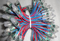 100pcs DC12V 12mm WS2811 led smart pixel node,with all color wire(20AWG),IP68 rated