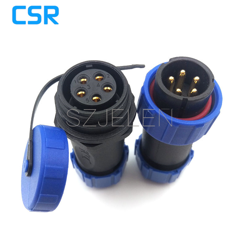 SP2110/P5 S5   Waterproof connector 5 pin  High power LED cable connector 5 pin plug socket Outdoor connector IP68|led cable connector|connector ip68|5 pin connector led -