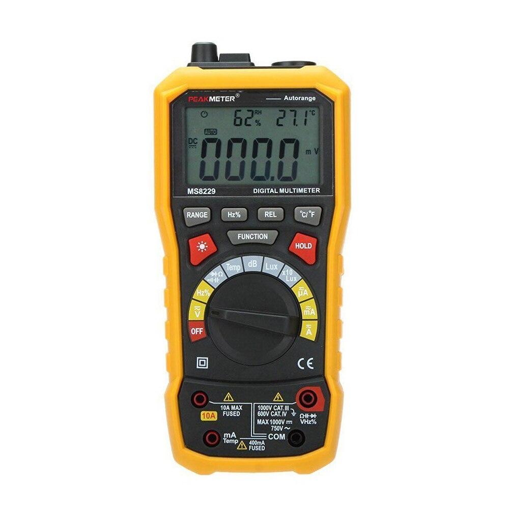 PEAKMETER MS8229 Auto-Range 5-in-1 Multifunctional Handheld 2.8 Auto Digital Multimeter hhtl peakmeter ms8229 auto range 5 in 1 multifunctional handheld 2 8 auto digital multimeter