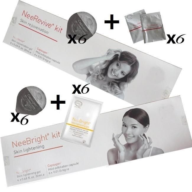 Nee Revive Kit & Nee Bright Kit Gel Skin Lightening And Skin Rejuvenation Face Oxygen Machine Use Acne Treatment Kit Anti-aging