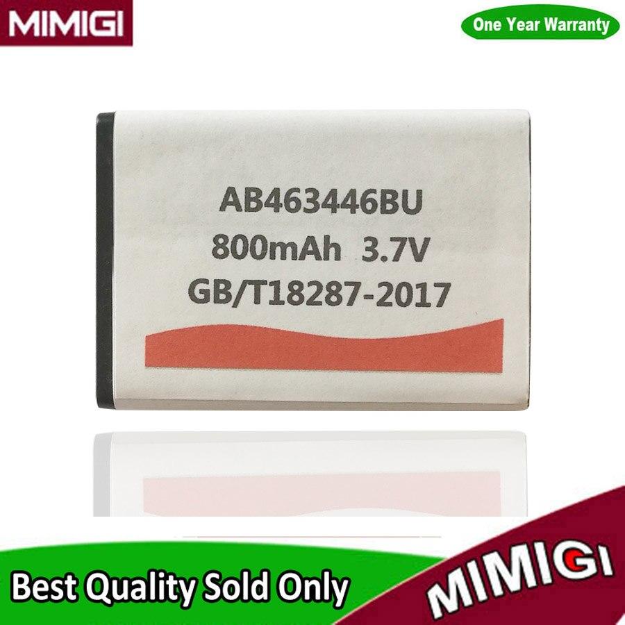 JESSQUE 800 mAh AB463446BU Batteria Per SAMSUNG C5212 E1190 C5212i E2600 M310 C3300K X208 F299 GT-C3520 SGH-B100 B300 Bateria AKKU