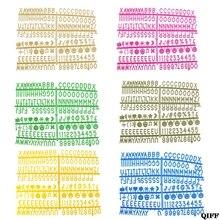 Прямая поставка и оптовые продажи, войлочные доски с буквами, 340 шт, Разноцветные цифры со сменными буквами, 3 июня