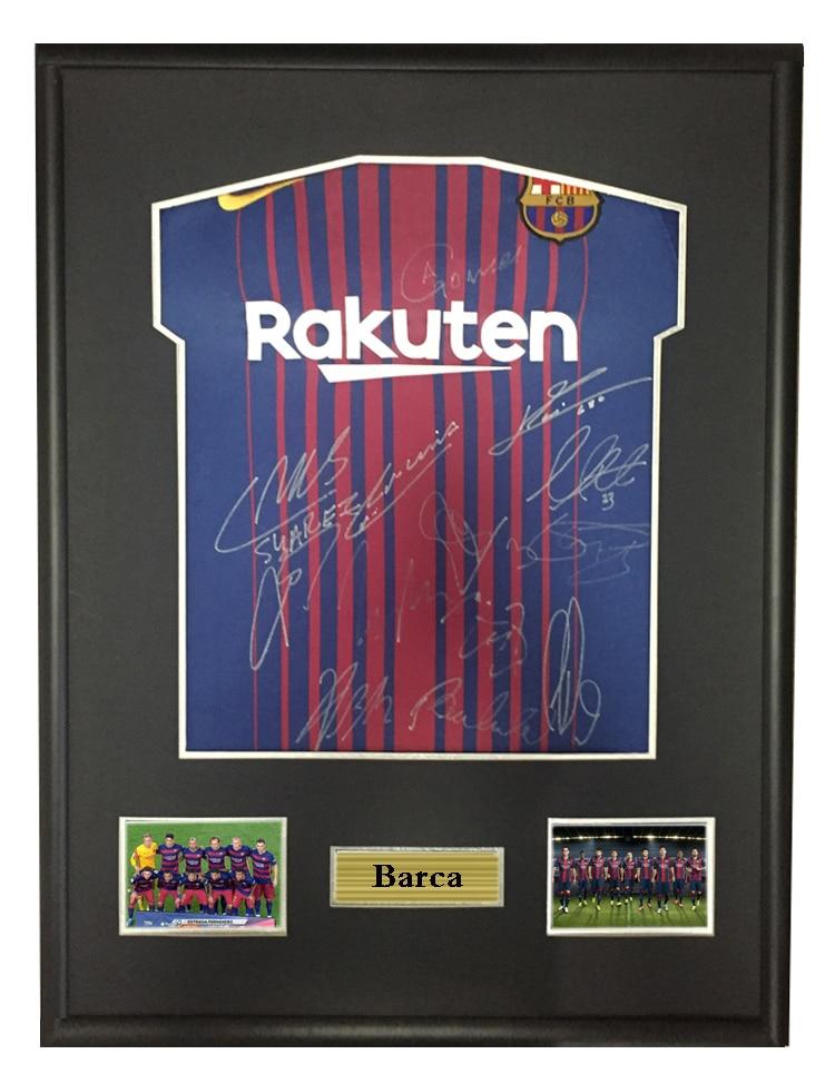 size 40 1e23d 85e65 Messi Suarez Pique signed autographed soccer shirt jersey ...