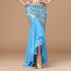 2018 Новый живота Танцы сексуальная одежда танец живота костюм рыбий хвост юбка платье с разрезом Для женщин