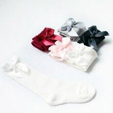 Новорожденных Девочек Колено Высокие Носки с Луки Детские Принцесса Носки для девушка Сладкий Милый Ребенок Носки Длинная Трубка Дети Дети Ноги Теплые 0-4Y