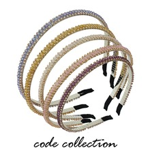 Fashion Crystal Hair Hoop for Girls Sweet Lady Acrylic Decoration Accessories Promotion Women Ornaments HW112