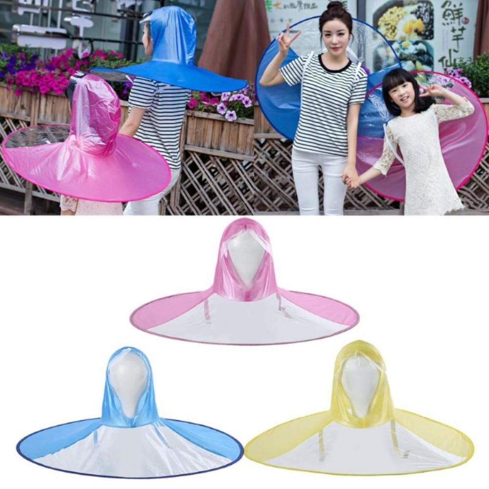 7f3be244043b6 UFO Kid Raincoat Umbrella Hat Outdoor Fishing Golf Hands Free Children  Yellow Umbrella Baby Boy Girl Folding Windproof Rainy Cap