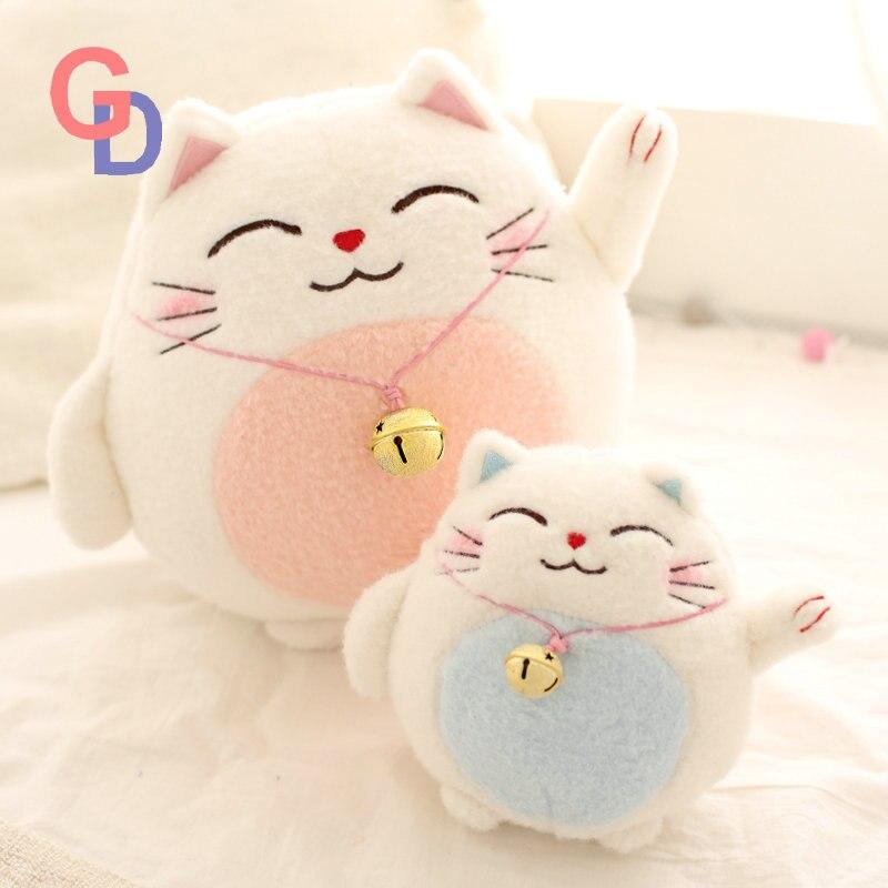 Japón Anime de peluche de juguete gato de la suerte de la figura de acción a traer dinero y rico de peluche suave muñeca de peluche de felpa de juguete de plástico para niños