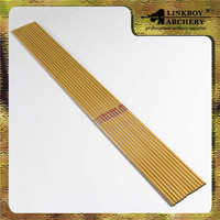 12pcs Lot Pure Carbon Arrow Shaft W Bamboo Pattern SP500 7 5gpi For Traditional Compound Bow