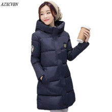 2016 New Women Down Jacket Winter Warm Thick Cotton-padded Coats Slim Outwear Hooded Wadded Long Parkas Female Clothing ZJ921
