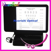 W097 40cm Low Contrast 20% Numbers Led Near Vision Chart Back With Amsler Grid Double side Led Illuminated Visual Acuity Chart