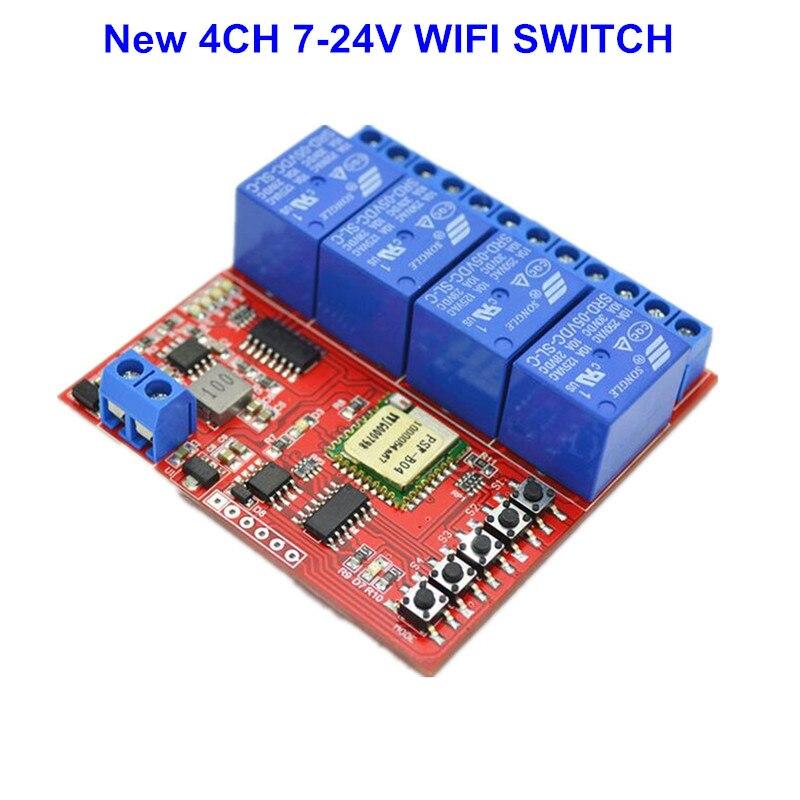 imágenes para Caliente 4CH 12 V Inteligente Inalámbrico Interruptor de la Luz WiFi wi-fi Controlado por Teléfono En Android y IOS para la Automatización Del Hogar