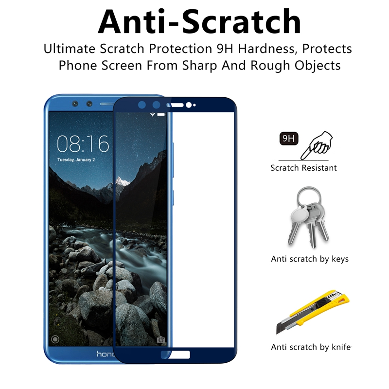 Image 3 - honor 9 lite protective glass on honor 9 lite for huawei honor 9lite 9 10 light honor9 screen protector safety tempered film 3D-in Phone Screen Protectors from Cellphones & Telecommunications
