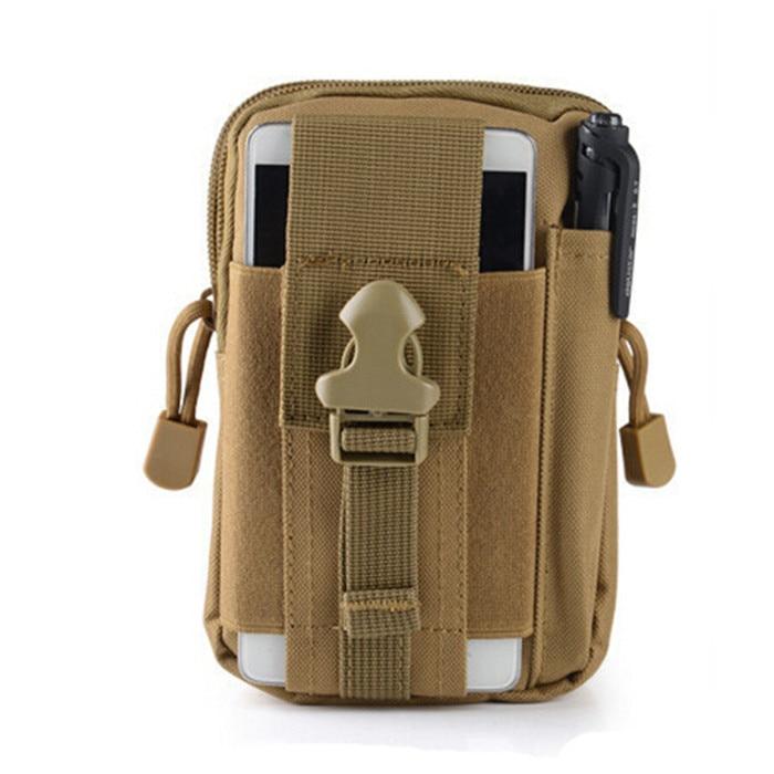 imágenes para Universal Funda Táctica Militar Al Aire Libre Hip Cinturón de Cintura Bolsa Caja Del Teléfono Monedero Bolsa de La Carpeta con Cremallera para el iphone 7 (SS0808)