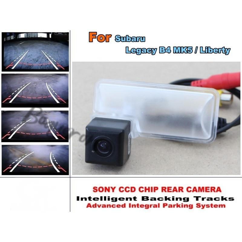 Intelligent Caméra De Stationnement de Voiture/avec Pistes Module Arrière Caméra CCD Nuit Vision Pour Subaru Legacy B4 MK5/Liberté