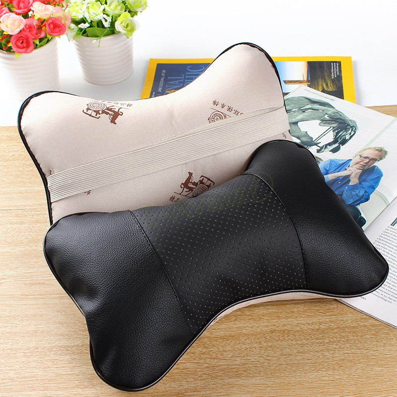 High Quality Leather Car Neck Pillow