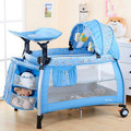 Portable multifunctional baby bed folding game bed crib European baby bed BB