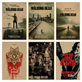 The Walking Dead Cartel de película retro Retro de Papel Kraft Café Bar Pintura Decoración Del Hogar Etiqueta de La Pared