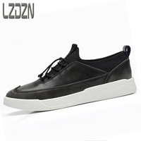 Metallic Leather Shoes Are The Trend Of Korean Character Summer Tide Brand Men S Black Autumn