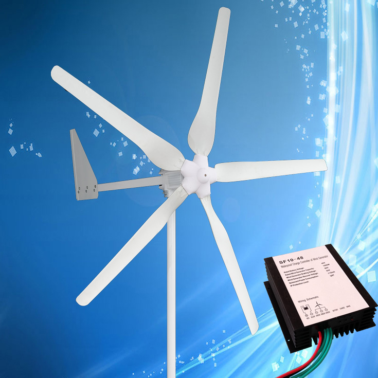 L'éolienne 1KW se Combine avec le contrôleur de vent 1KW, générateur d'énergie éolienne de démarrage à faible vent 24 V/48 V, pour un usage domestique et un éclairage public