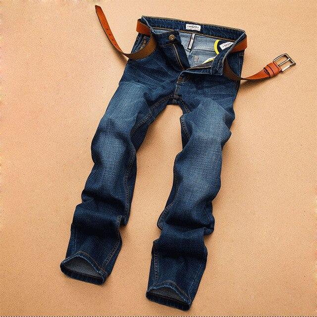 SuLee Nuevo Invierno de Los Hombres Pantalones Vaqueros Rectos de Los Pantalones Ocasionales de Los Hombres de Moda Masculina Clásica Pantalones Denim Blue Jeans Homme 2066