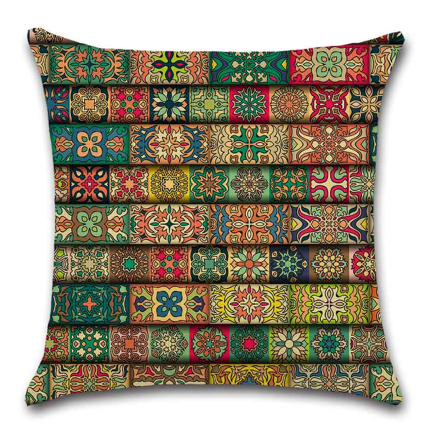 Geometric flower Mandala datura Islam Cushion Cover Decoration Home house room sofa chair seat Throw pillow case friend gift in Cushion Cover from Home Garden