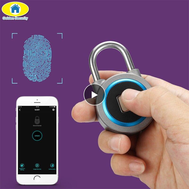Mini Bluetooth Lock Phone APP IP65 Waterproof Keyless Fingerprint Lock Unlock Anti Theft Padlock Door Lock