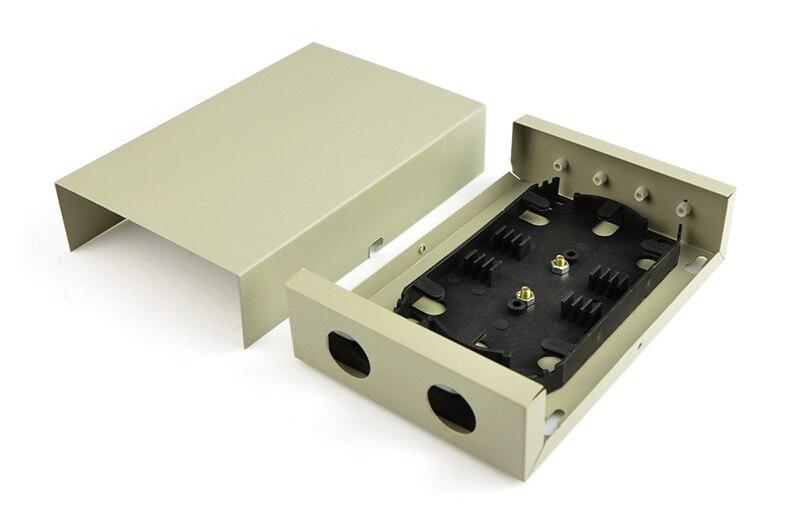 10 pièces FTTH Boîte avec 4 Ports pour Noyau De 4 Queue De Cochon/Boîte de Distribution De Fiber Optique/FTTH/FTTH boîte de distribution