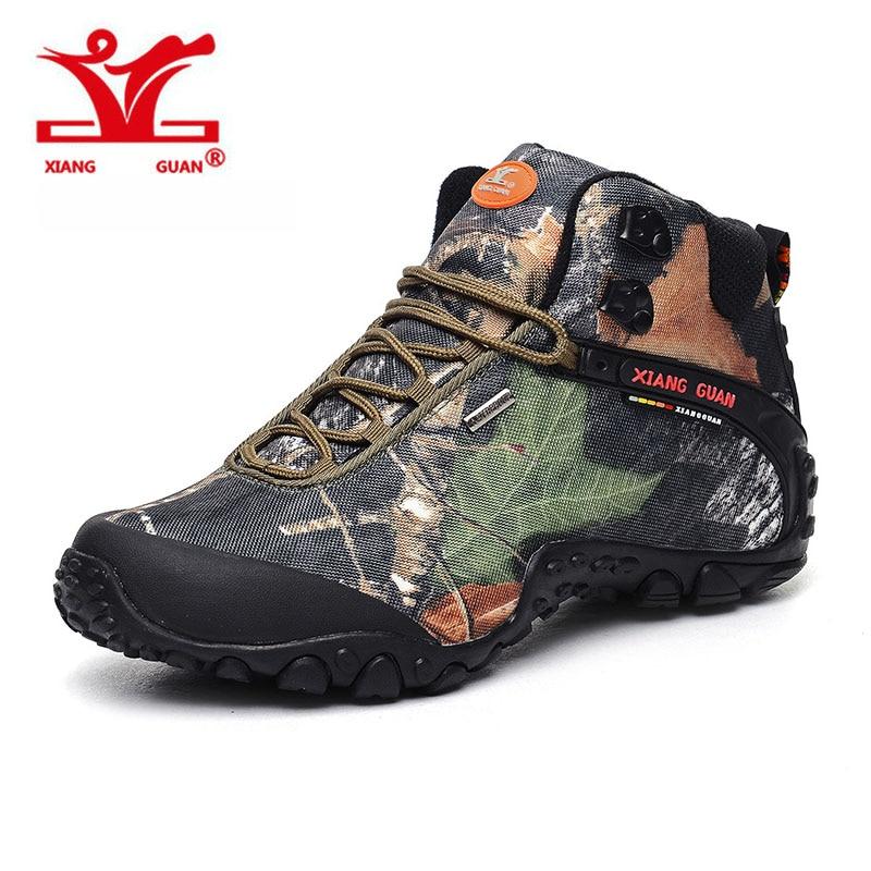 XIANGGUAN Men Hiking Shoes Waterproof Climbing Sneakers Breathable Trekking Trainers Outdoor For Adult sapatos ao ar livre xiangguan man hiking shoes waterproof outdoor climbing men trainers trekking sneaker breathable 40 48 plus size us 12 13 14 15