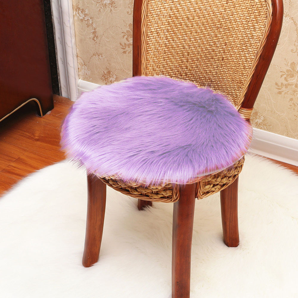 Soft Artificial Sheepskin Fluffy Small Carpets Rug Chair Cove Dust Removal Faux Wool Warm Hairy Children Carpet Seat