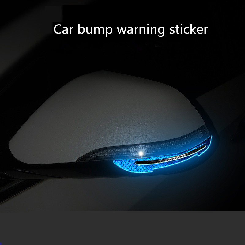 Precut Reflective Marking Tape Strip Stickers RearView Mirror Anti-Collision Safety-Warning Sign Decals