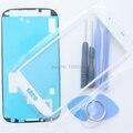 S4 Внешний Стекло для Samsung Galaxy S4 i9500 Сенсорный ЖК-Экран Digitizer Переднее Стекло Объектива i9500 Бесплатные Инструменты Клей Стикер