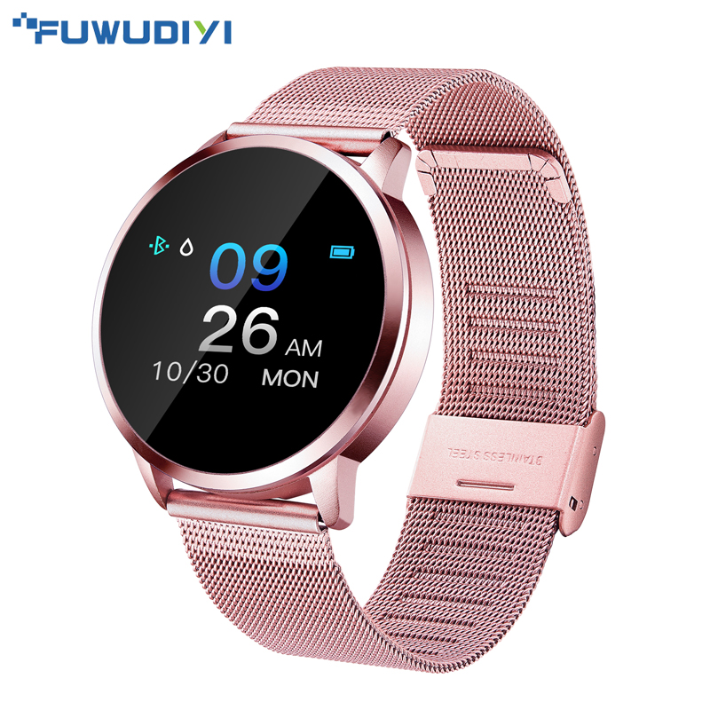 FUWUDIYI Q8 Bluetooth Smart Watch Stainless Steel Waterproof Wearable Device Smartwatch Wristwatch Men Women Fitness Tracker(China)