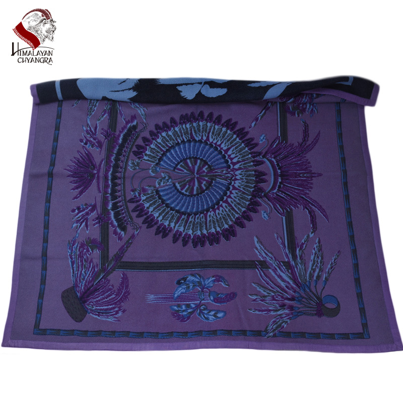 Pure Printed Cashmere Blanket Soft Warm Double Face Design