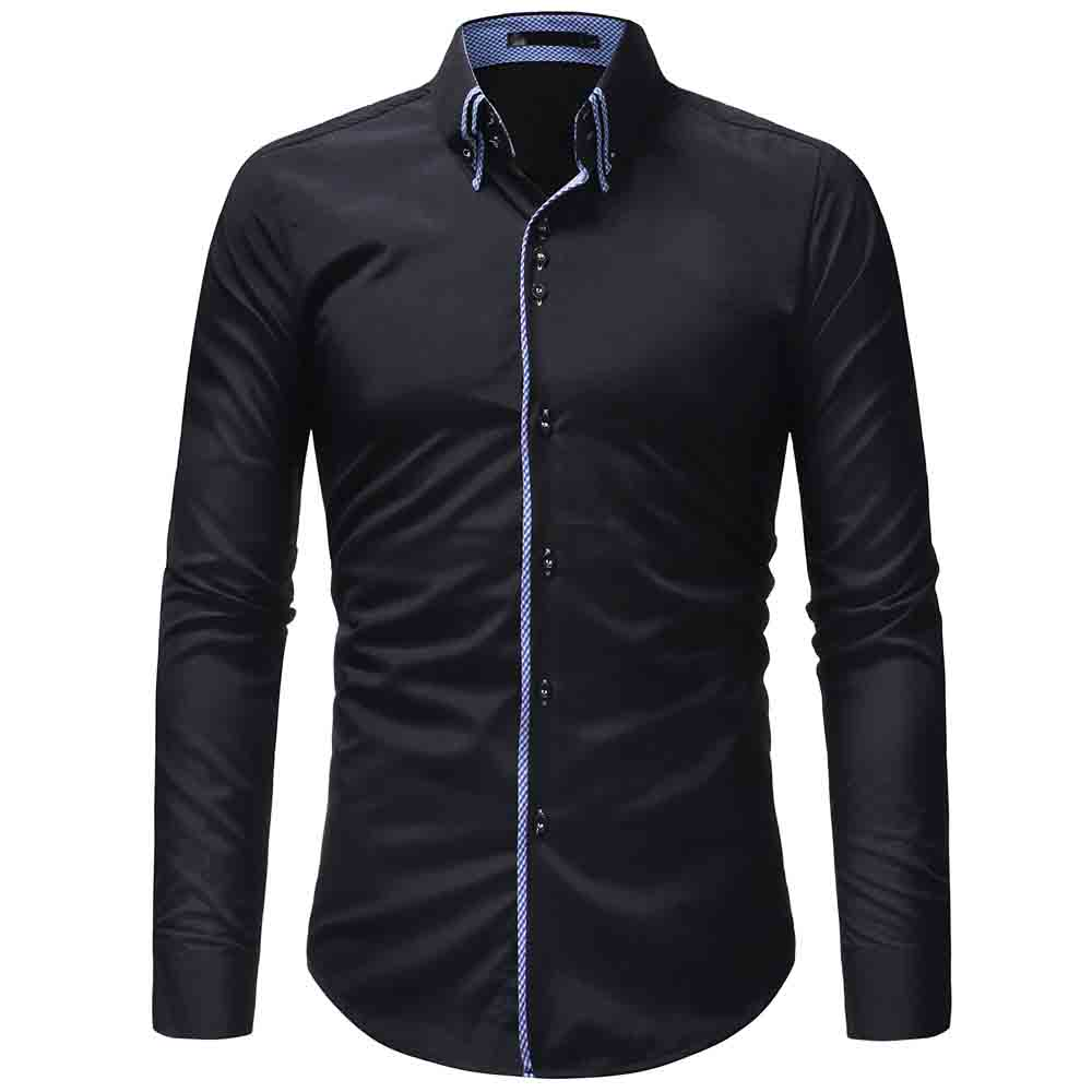 New Fashion Men Shirt Long Sleeve Camisas Para Hombre Brand-clothing Shirt Men Casual Slim Fit Camisa Hombre Cool Men