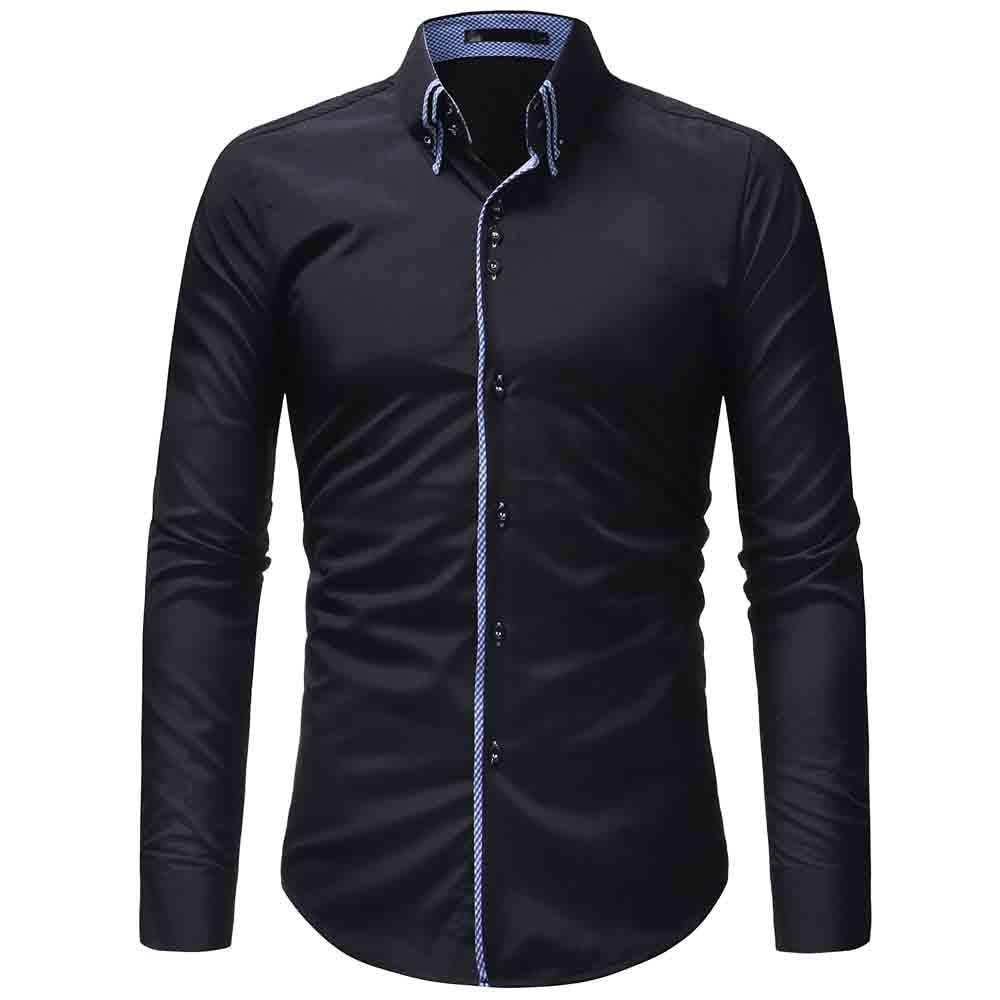 New Fashion Men Shirt Long Sleeve Camisas Para Hombre Brand-clothing Shirt Men Casual Slim Fit Camisa Hombre Cool Men