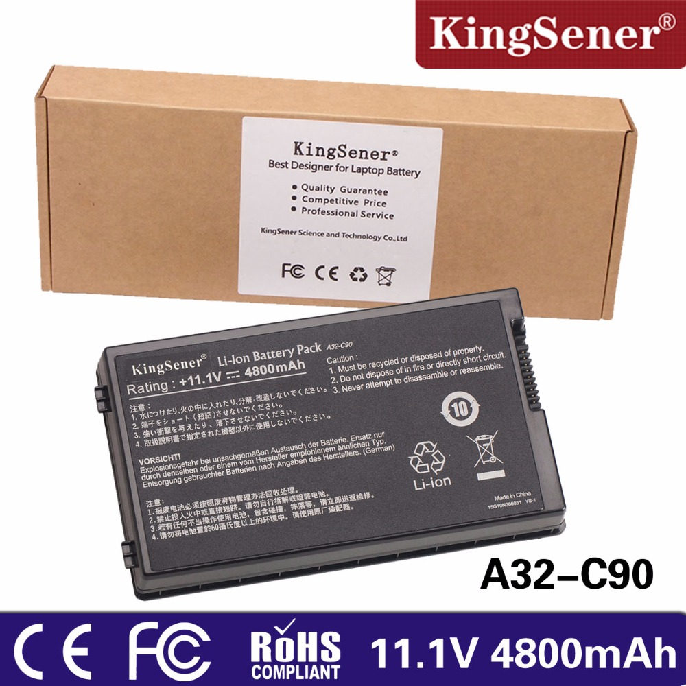 KingSener new Laptop battery for ASUS A32 C90 C90S C90P C90A Series Free 2 Years Warranty